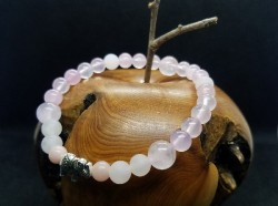 "Bracelet ""Douceur"" Quartz Rose"
