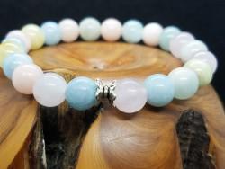 Bracelet en Morganite multicolore
