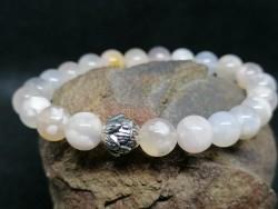 Bracelet en Agate Cerise ou agate. Fleur